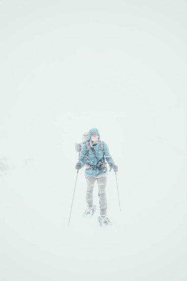 USA, Utah, Schneesturm