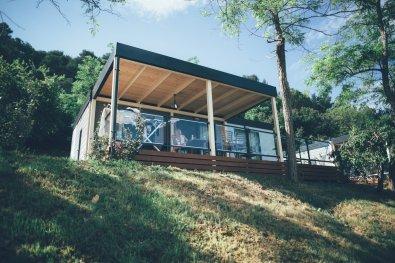 Camping im Mobilheim auf dem Campingplatz Lanterna in Istrien