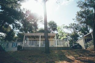 Unser Mobilheim auf dem Campingplatz Lanterna in Istrien