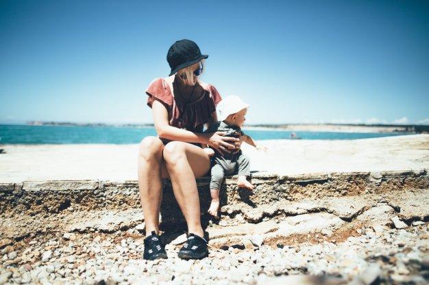 Mia und Neon auf dem Campingplatz Lanterna in Istrien