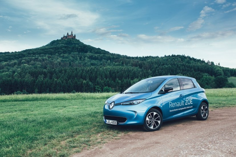 Renault ZOE goes Burg Hohenzollern