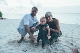 Familie Bühler auf Velassaru Maldives