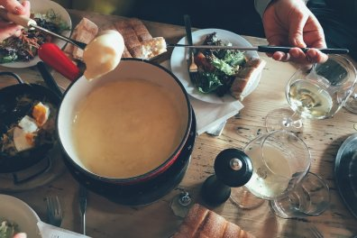 Einmal Käsefondue muss in der Schweiz schon s ein