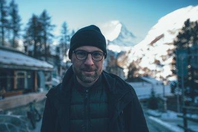 Thies mit dem Matterhorn im Rücken