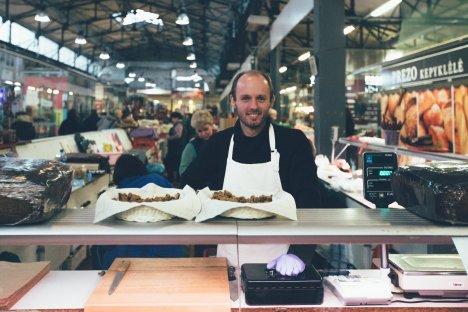 Der gute gelaunte Bäcker aus der Markthalle