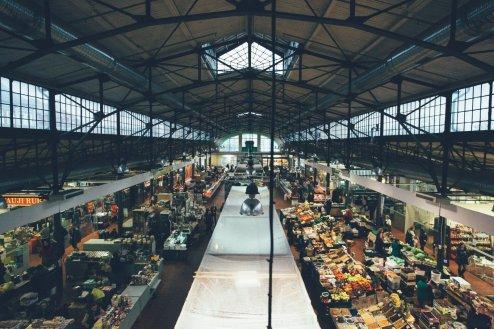 Die Markthalle von innen