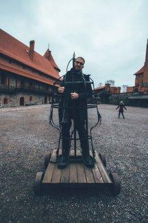 Burghof der Wasserburg Trakai