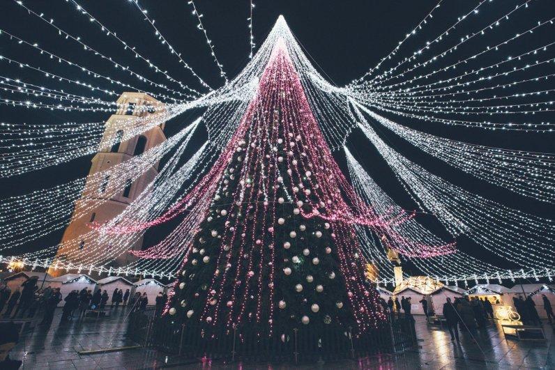 Der Weihnachtsbaum am Cathedral Square