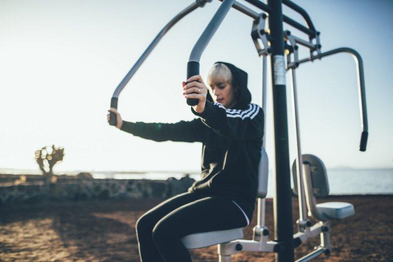 Outdoor Gym Playa Blanca aufLanzarote