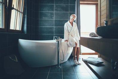 Freistehende Badewanne im La Soa Chalet