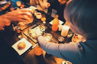 La Soa Chalet Geselligkeit beim gemeinsamen Frühstück