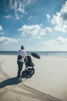 Selbst am Strand an der Ostsee lassen uns die Terrain-Räder nicht im Stich!