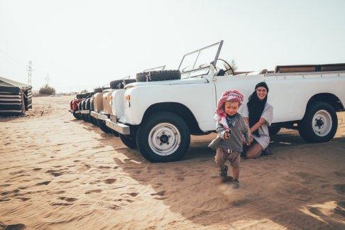 Bereit für einen Ausflug durch die Wüste
