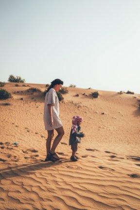 Auf einem Streifzug durch die Wüste