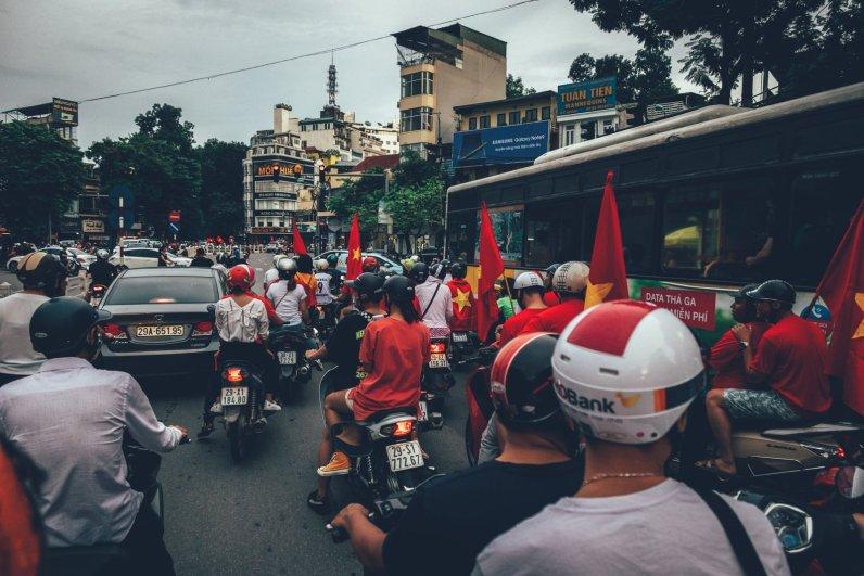 Rollerparade durch die City zum Nationalfeiertag