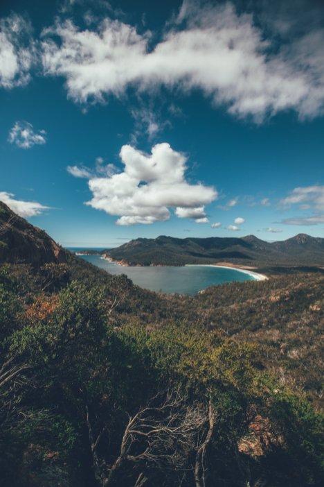 Aussicht auf die Wineglass Bay
