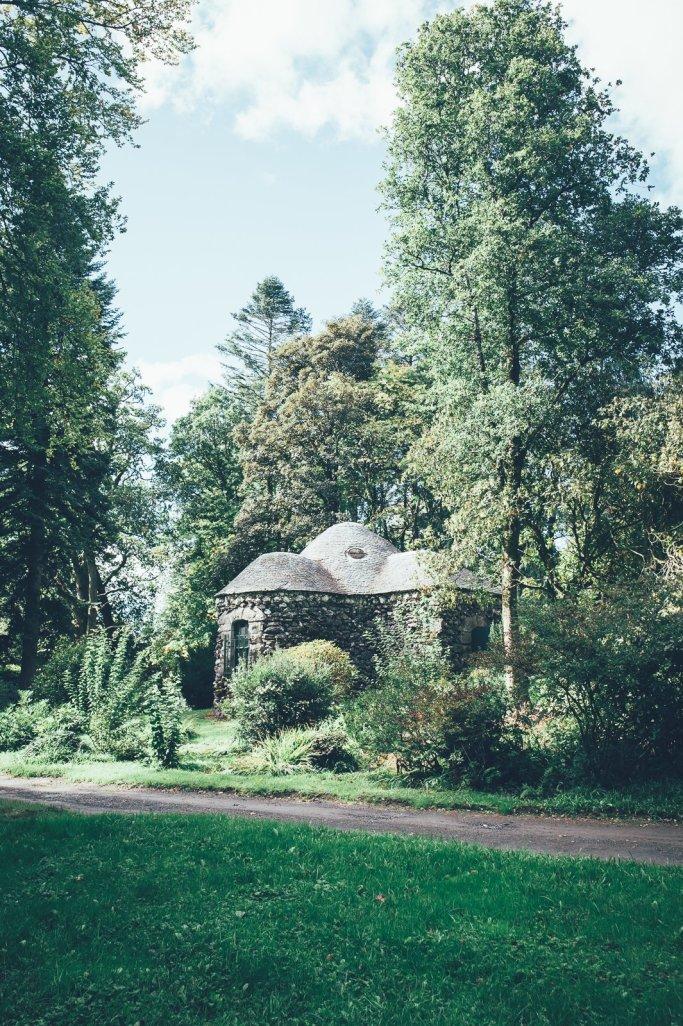 Garten des Curraghmore House in Irland