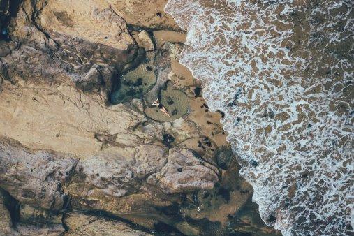 Drohnenaufnahme Urquhart Bluff Beach