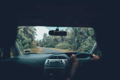 Unterwegs mit dem Mietwagen auf Aitutaki