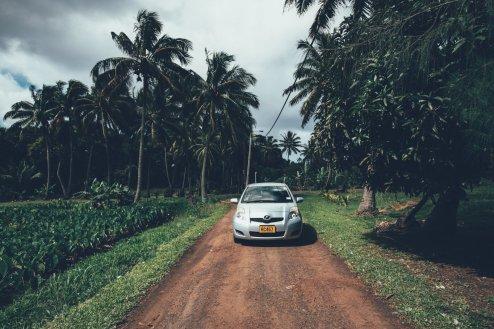 Unser Mietwagen auf Rarotonga