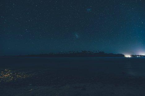 Die Lagune bei Nacht