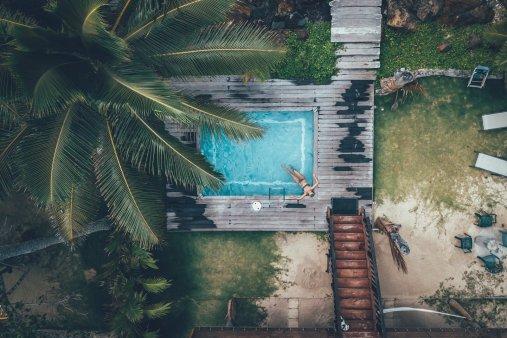 Unser Pool von oben