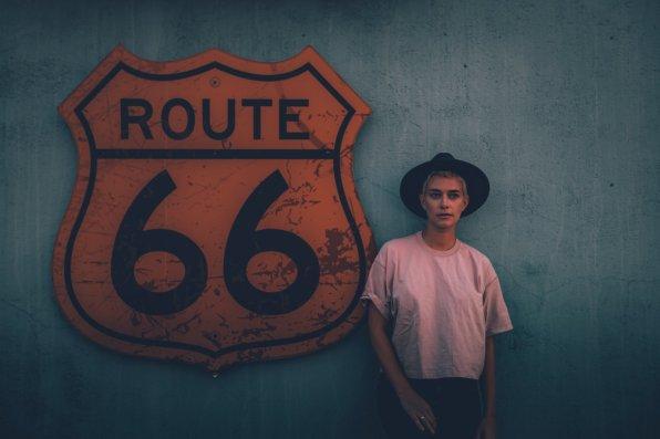 Mia unterwegs auf der Route 66