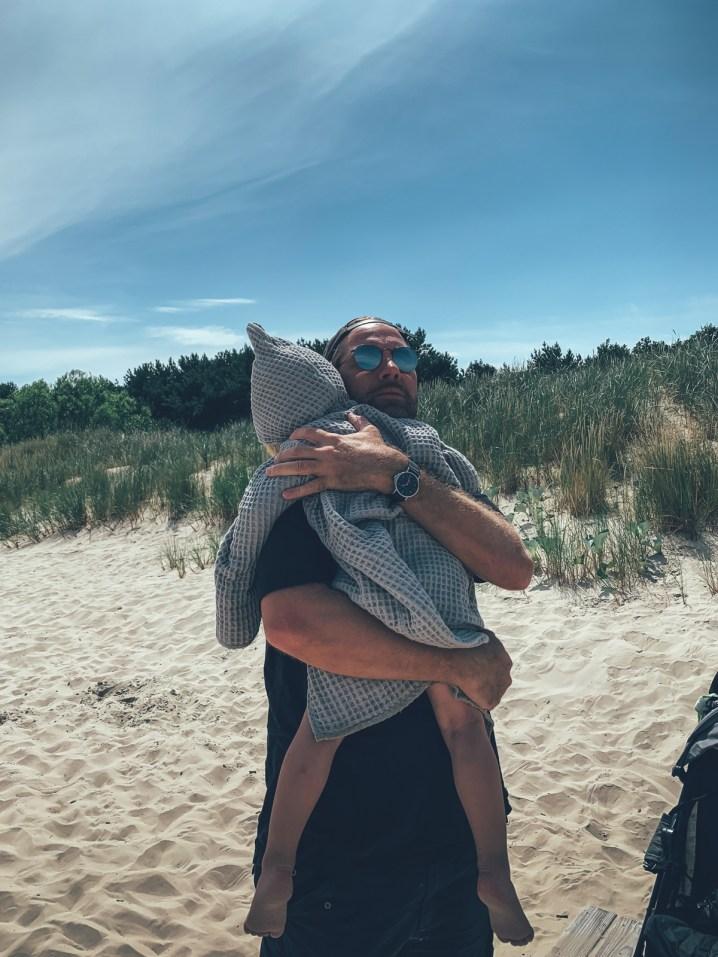 Neon und Papa auf der Insel Usedom