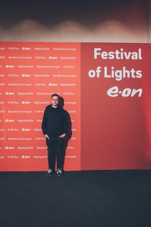 Patrick beim Festival Of Lights in Berlin