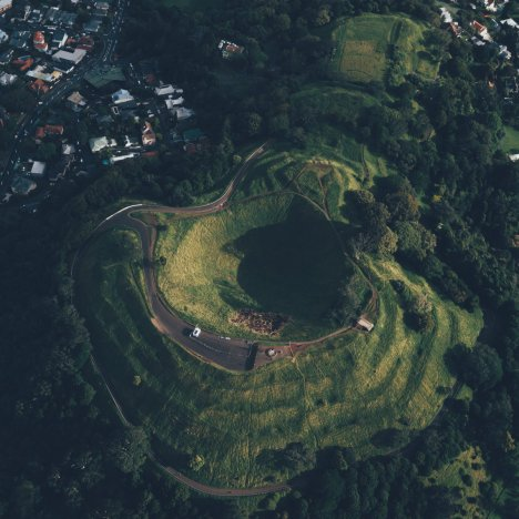Mount Eden von oben