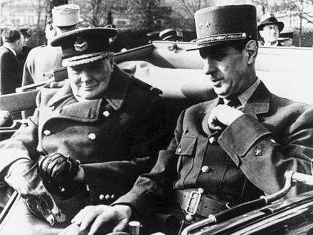 Черччиль и де Голль