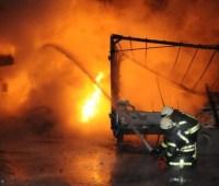 Спасатели ликвидировали большой пожар на АЗС в Кропивницком