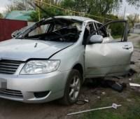В Харькове гранатой взорвали автомобиль