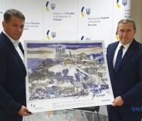 """Сущенко передал одну из репродукций картин на благотворительную акцию """"Праздники без папы"""""""