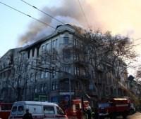 Количество пострадавших из-за пожара в одесском колледже возросло до 26