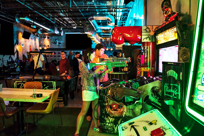 Rickys Miami Beach Funnel Cakes Whiskey And Arcade