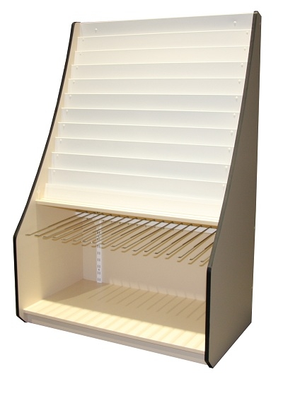 15 tier card giftwrap display stand 1250mm