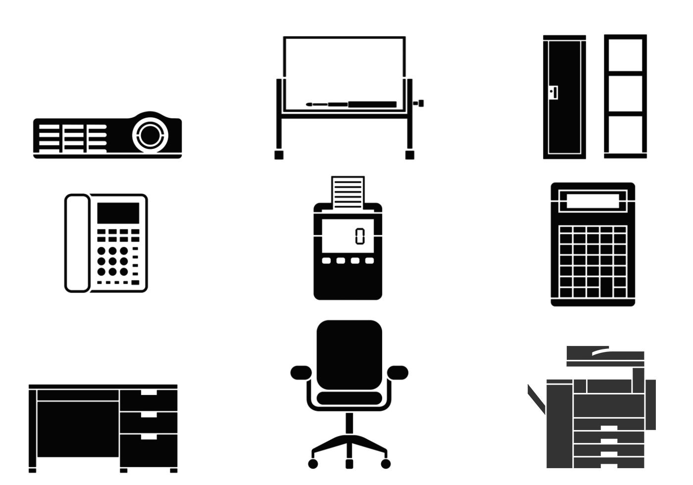 Office Equipment Office Equipment Vector