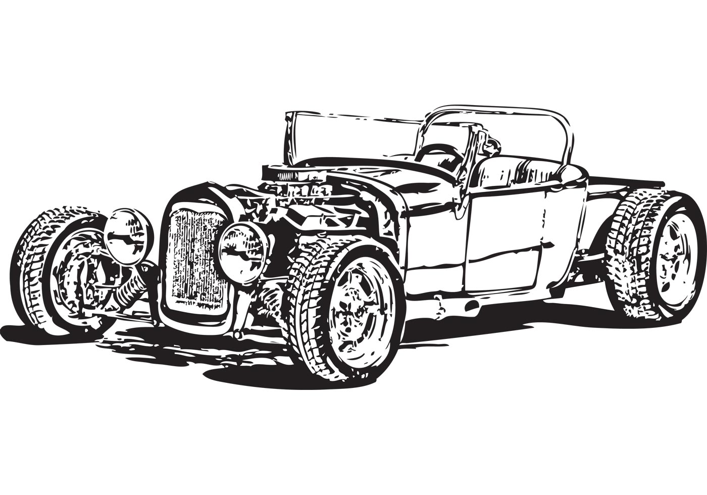 Free Model T Hot Rod Vector