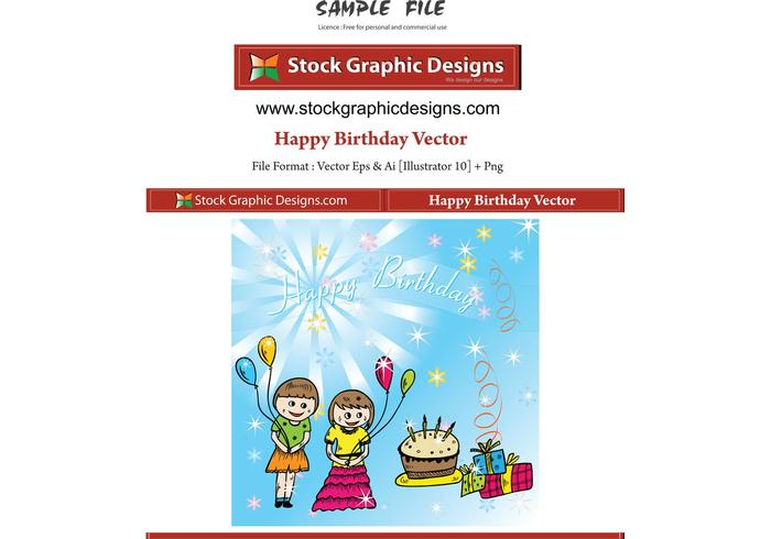 Happy Birthday Vector Download Free Vector Art Stock Graphics Amp Images