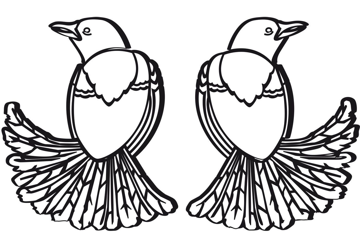 Free Two Birds Vector