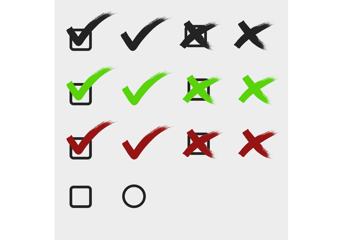 Check marks tick and cross - Download Free Vector Art ... on ✔  id=95866