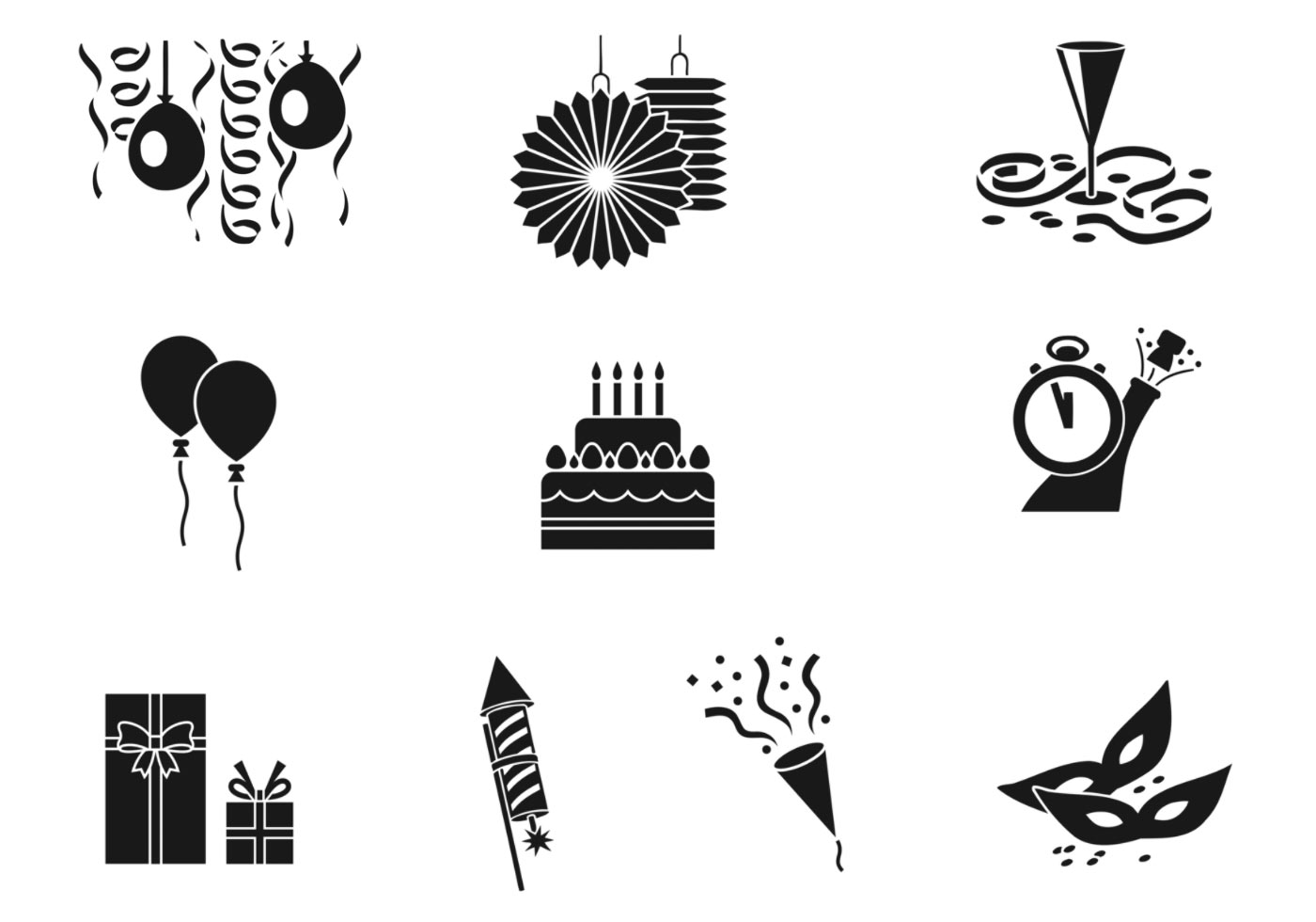 Celebratory Party Vector Pack