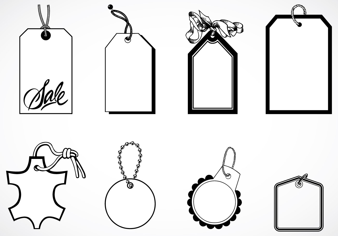 Vintage Tag Vector And Label Vector Pack