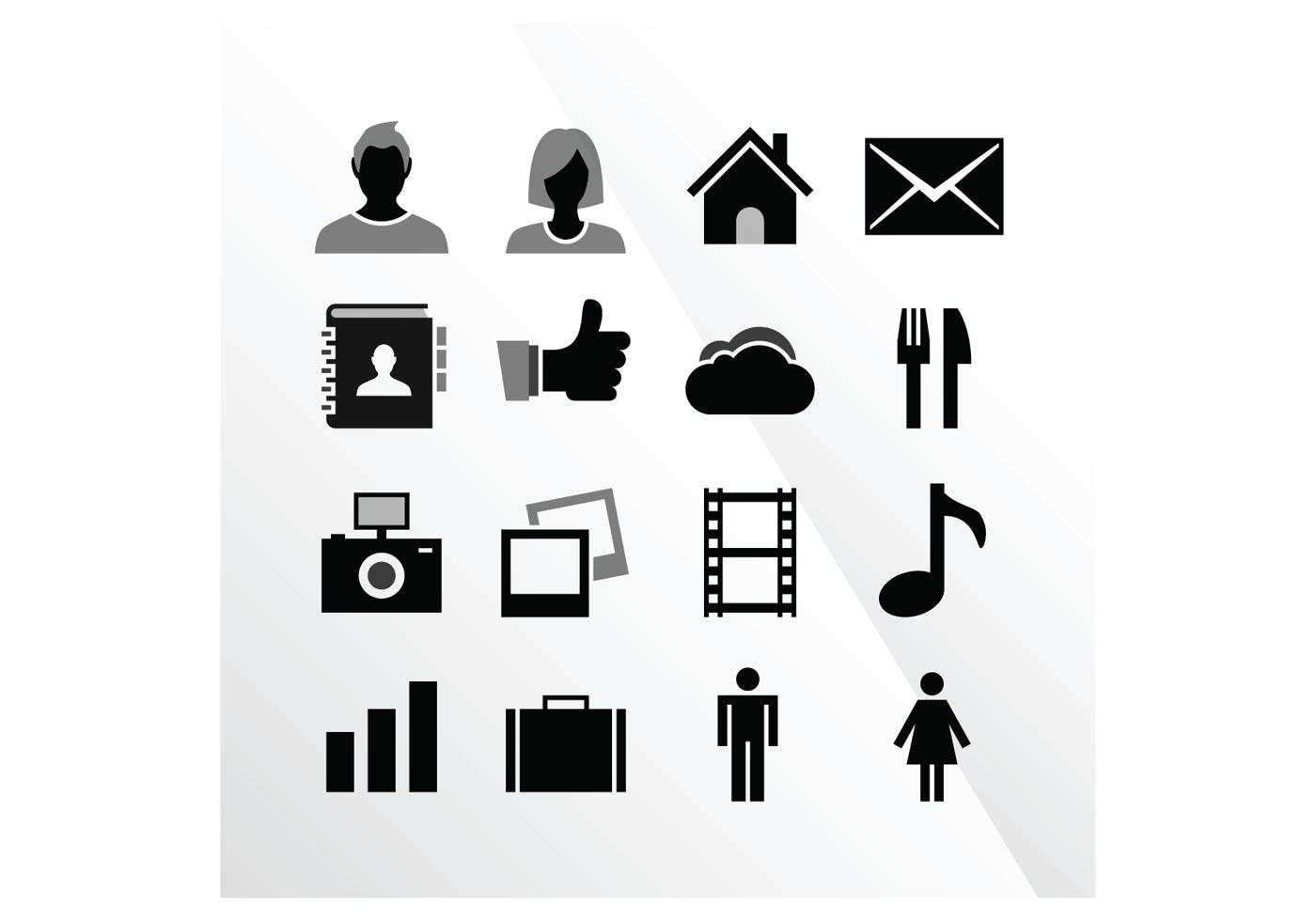 16 Ios Tab Bar Vector Icons
