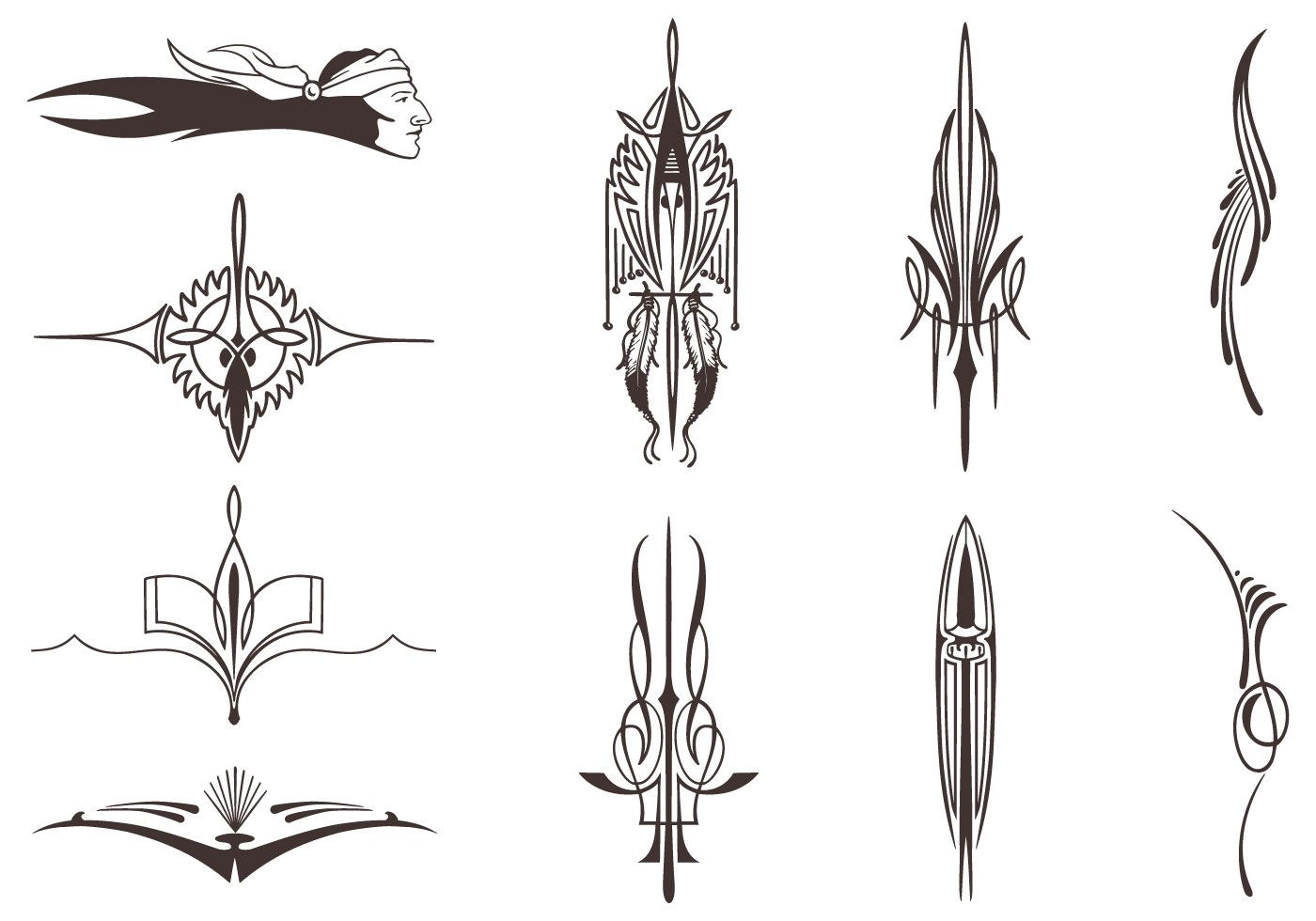 Native American Vector Elements Pack