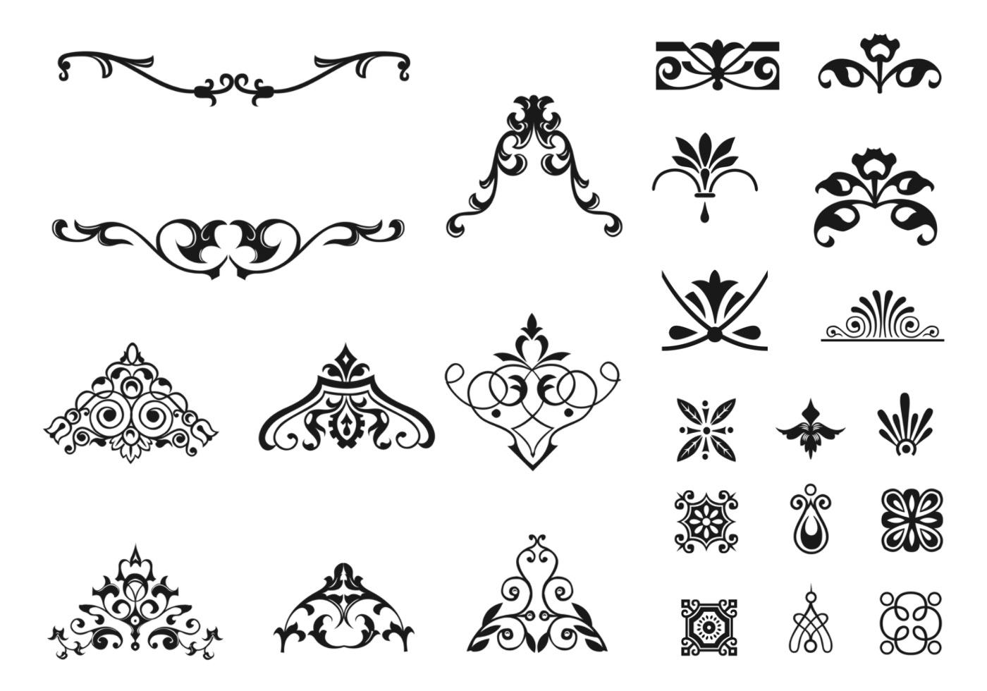 Victorian Ornament Vector Pack