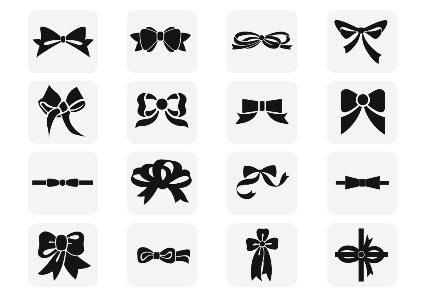 Polka Dotted Black Bow Vector Pack