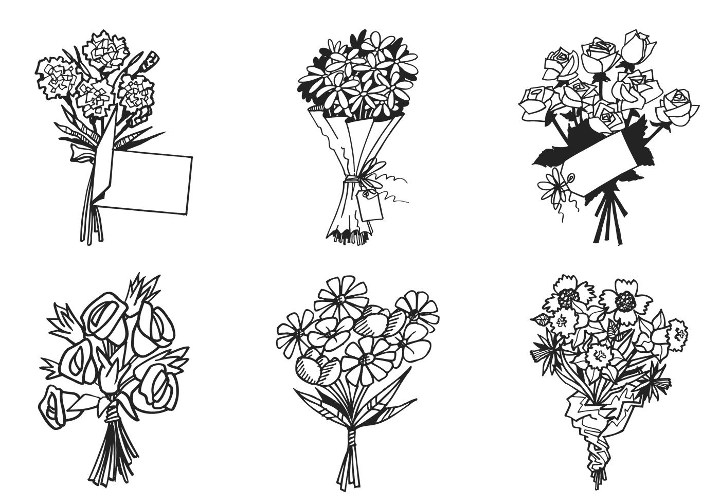 Flower Bouquet Vector Pack Download Free Vector Art