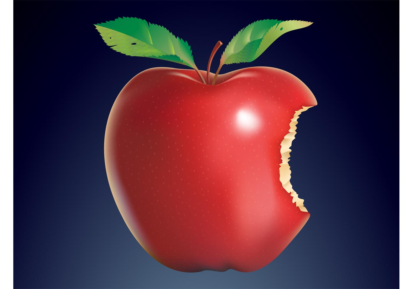 Bitten Apple Free Vector Art